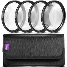 52MM Close Up Macro Lens Filter Set +1 +2 +4 +10 with Pouch by Altura Photo®