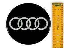 AUDI ★ 4 Stück ★ SILIKON Ø65mm Aufkleber Emblem Felgenaufkleber Radkappen