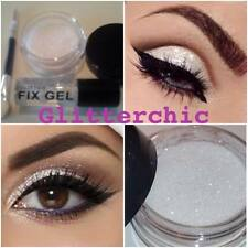 Glitter Eyes White with Fix Gel, Application Wand loose glitter makeup Sparkles