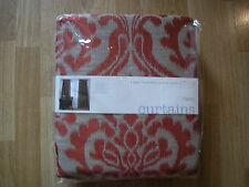 NEXT CURTAINS BURNT ORANGE Opulent Damask Jacquard Pencil Pleat Curtains 66X90""