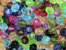 200 x Mixed Acrylic 4mm Faceted Bicone Beads Craft Jewellery FREE UK P+P M189