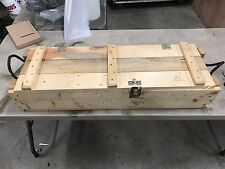 105 MM US Army Wooden Ammunition Ammo Mortar  Projecticle Wood Box.