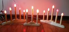 3 Vtg Christmas Holiday Candelabra Candolier Electric Candle Lights Oval Base