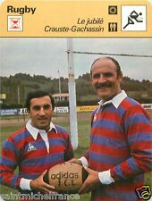 FICHE CARD : 1979  LE JUBILE  JEAN GACHASSIN  MICHEL CRAUSTE  RUGBY 70s