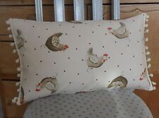 Bespoke Cream Chicken Hen / Red Polka Dot Country Cottage Feather Cushion NEW