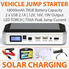 USB Powerbank / Power supply / Phone Charger and Car Jump Starter w/ Solar Panel