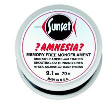 SUNSET - Amnesia-Vorfachschnur Black 100m  25LB  11,4kg