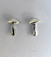 Pair Of Sterling Silver  925  Mushroom  Ear Studs  !!     Brand  New  !!