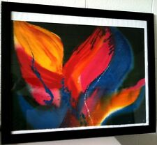 Lamar Briggs ( b. 1935) Abstract Floral Lithograph Signed & Numbered circa 1976