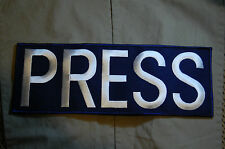 """Conflict War Theater TV NEWS MEDIA PRESS 11""""Reporter Patch for Ballistic Vest #3"""