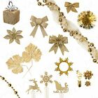 Assorted Festive Gold Theme +CHRISTMAS DECORATIONS+ Xmas Tree/Party/Home/Office