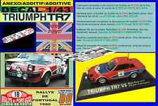 ANEXO DECAL 1/43 TRIUMPH TR7 V8 TONY POND RALLYE PORTUGAL 1980 (02)