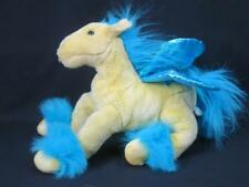 TOYS ARE US ANIMAL ALLEY BLUE YELLOW GOLDEN PEGASUS HORSE STUFFED PLUSH