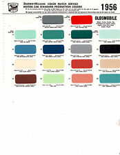 1956 OLDSMOBILE 88 SUPER 88 98 56 PAINT CHIPS SHERWIN WILLIAMS 2