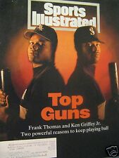 1994 Sports Illustrated Frank Thomas-Ken Griffey Original-VG-Mariners White Sox