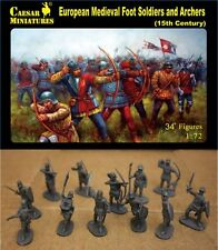 Caesar Miniatures 1/72 European Medieval Foot Soldiers and Archers # 088