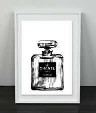 Chanel BLACK and WHITE marble tones Poster Prints Home Decor Art A4  Coco