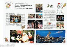 PUBLICITE ADVERTISING 116  1992  Noel à Euro Disney  (6p)