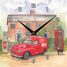 No.44 Post Office van - Retro Sue Podbery Wall clock handmade gift present