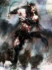 Art Imprimé Poster Dessin Peinture Fantaisie monstre en colère loup-garou lfmp1044