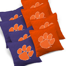 CLEMSON TIGERS Cornhole Bags SET of 8 ACA REGULATION Baggo Bean Bags