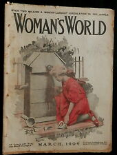 Woman's World Magazine March 1909  FASHIONS  & PATTERNS - ADVERTISING