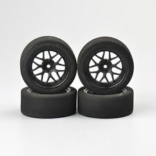 4X12mm Hex Fit 1/10 On-road RC Competition Car Foam Tires & Rims Set 23002