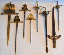 Antique 1900s Collection of Spanish Toledo Gun Metal Swords