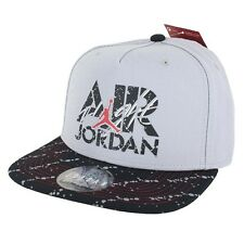 Air Jordan Stencil Snapback 707249-012 Grey Black White Red One Size Fits Most