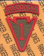 US Army 1st Infantry Division RECONDO School Arrowhead LRRP patch tab set