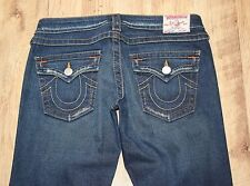 "True Religion Joey Twisted Seam Flare Low Rise Indigo Distress Jeans W29"" L34"""