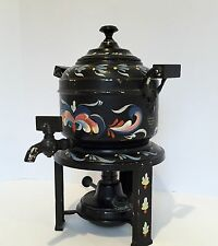 VTG Meteor Percolator Manning Bowman &Co. CT Hand Painted Signed Toleware