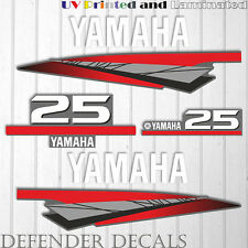 Yamaha 25 HP Two 2 Stroke outboard engine decal sticker kit reproduction 25HP