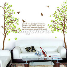 Tree Bird Quote Removable Vinyl Wall Decal Mural Home Art DIY Decor Sticker New