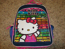 "HELLO KITTY Backpack School Bag  Large 16"" NWTS $29.99 CUTE GIFT"