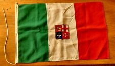 Vintage Italian Merchant Marine Flag WW 2 Authentic Historical Museum Piece RARE