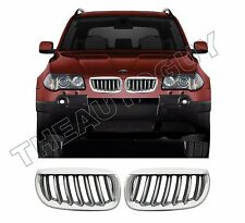 2004 2005 2006  BMW X3 ALL MODELS CHROME PLATED ABS REPLACEMENT 2PC GRILL