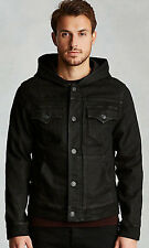 NEW! True Religion Men's Dylan Hooded Coated Jacket Size 3XL Night Drifter $229