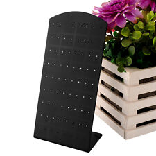 72 Holes Earrings Jewelry Show Black Display Stand Organizer Holder Showcase