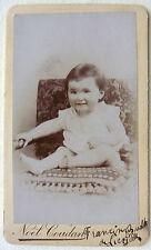 CDV PHOTO NOMMÉ NOEL COUDAN à LYON BÉBÉ ENFANT  M140