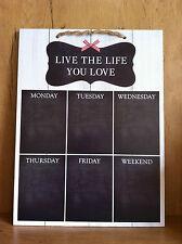LIVE Life montaggio a parete giorni feriali Organizer Planner MEMO MESSAGE menue GESSO Board