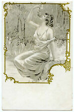 ART NOUVEAU. ANTIQUITé. ANTIQUE. JOLIE FEMME. PRETTY WOMAN.
