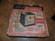 vintage Coleman Camping Oven. with original box and instructions