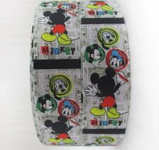 "BTY 1"" Disney Mickey Mouse Grosgrain Ribbon Hair Bows Scrapbook Lanyards Lisa"