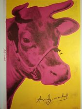 ANDY WARHOL HAND SIGNED SIGNATURE * COW WALLPAPER *  PRINT  W/ C.O.A