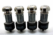 TUNG-SOL 6V6GT 6V6 MATCHED QUAD VACUUM TUBES TESTED!