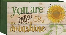"YOU ARE MY SUNSHINE Distressed Wood Box Sign, 4.5"" x 8"", by P. Graham Dunn"