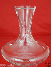 WATERFORD CRYSTAL SHIP DECANTER WINE CARAFE NJ GOLF TROPHY ENGRAVED