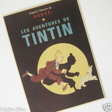 Tintin Adventure Movie Classics Anime Memories Old Retro Brown Paper Poster