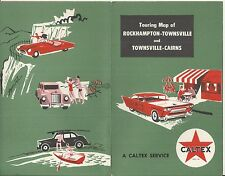 VINTAGE CALTEX  SERVICE STATION MAP OF ROCKHAMPTON - TOWNSVILLE - CAIRNS QLD